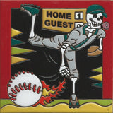 Day of the Dead Mexican tile Baseball pitcher
