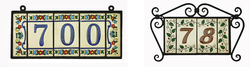 Mexican Tile House Numbers & Letters – Mexican Tile Designs