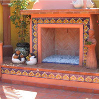 Outdoor Fireplaces Mexican Tile Designs