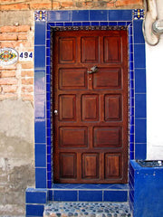 Mexican Tile Doorway - Blue