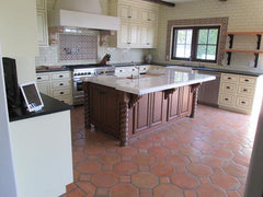 Mexican Tile Flooring - Kitchen