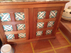 Mexican Tile cabinet door