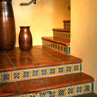 Mexican Tile Staircases Mexican Tile Designs