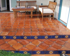 Saltillo Tile - Backyard