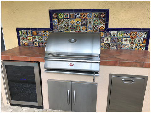 mexican tile designs outdoor bbq