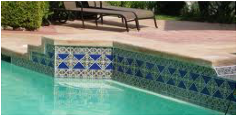 mexican tile designs pool
