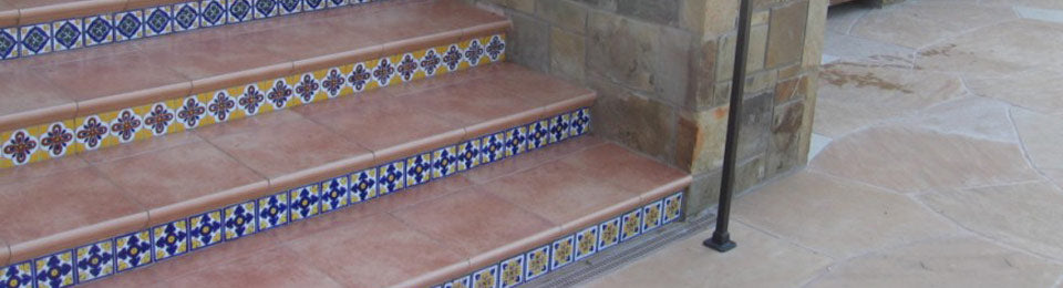 Using Mexican Tile On Staircases There Is Nothing Quite Like A Saltillo  Staircase With Mexican Tile Risers To Catch The Eye And Add Flair To Your  Home.