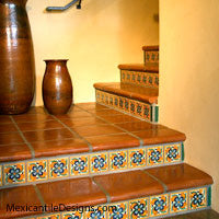 Mexican Tile on staircases