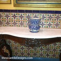 Mexican Tile on table top