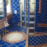 Mexican Tile on wainscoting