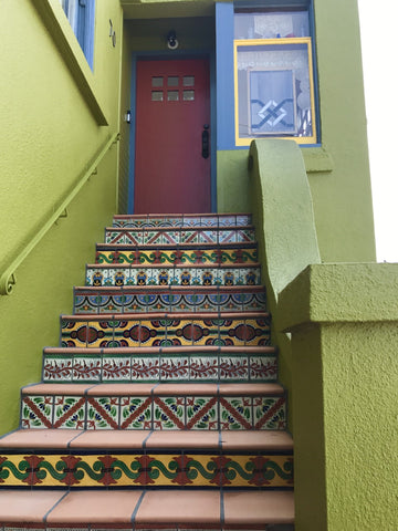 mexican tile designs stair risers