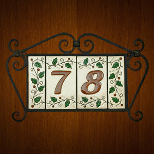 Mexican Tile House Numbers