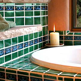 Mexican tile for tub surrounds