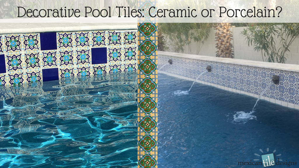 Decorative Pool Tiles Ceramic Or Porcelain Mexican