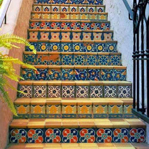 Mexican Tile Stairs Gallery