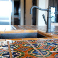 Mexican Tile on Kitchen Islands
