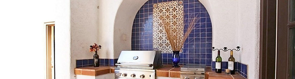 Mexican tile for outdoor kitchens and barbeques mexican for Mexican outdoor kitchen designs