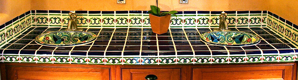 Mexican tile countertop