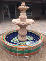 Mexican Tile Pools And Fountains Photo Gallery Mexican