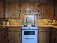 Mexican Tile Backsplash stove top