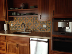 Mexican Tile Backsplash in kitchen