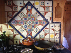 Mexican Tile Backsplash Kitchen Mural