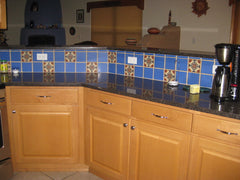 Mexican Tile Backsplash blue