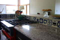 Mexican Tile Backsplash on counter