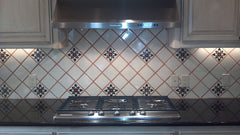 Mexican Tile Backsplash Stovetop