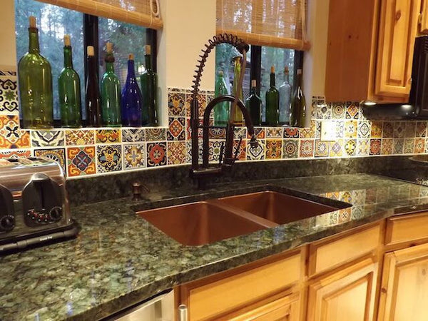 mexican tile designs kitchen backsplash talavera tile