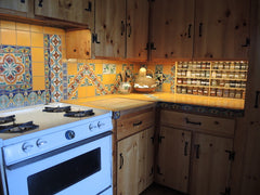 Mexican Tile Backsplash in kitchen area