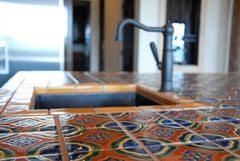 Mexican Tile Kitchen Countertop