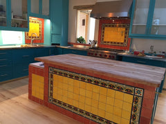 Mexican Tile Kitchen Island