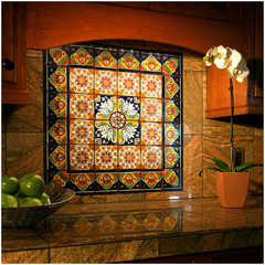 Mexican Tile Kitchen Mural
