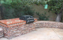 Mexican Tile Outdoor Grill