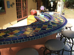 Mexican Tile Outdoor Bar