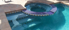 Mexican tile outdoor pool round