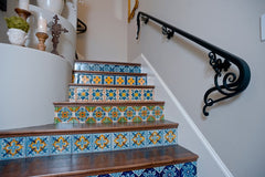 Mexican Tile Staircase Decorative