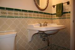 mexican tile wainscoting bathroom