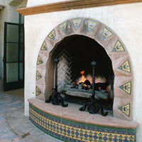 Mexican tile for outdoor fireplaces