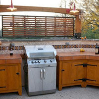 Mexican tile in outdoor kitchens and bbq's