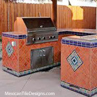 Mexican Tile for Outboor Kitchens