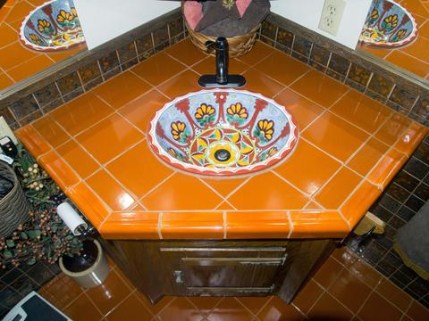 mexican tile bathroom and mexican tile sink