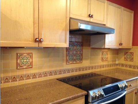 mexican tile baksplash kitchen