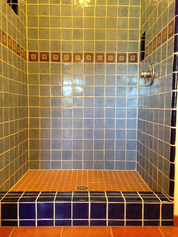 Showers · Mexican Tile Accents Gallery