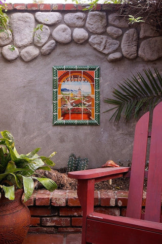 mexican tile designs mural outdoor