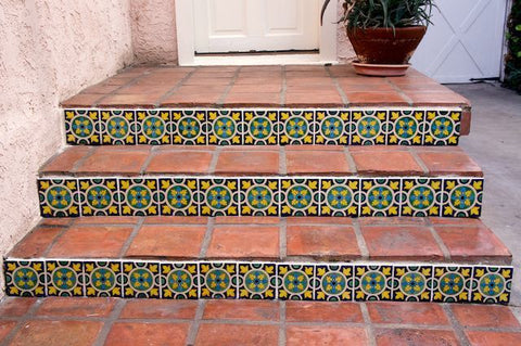 Mexican Tile Designs Stair Gallery