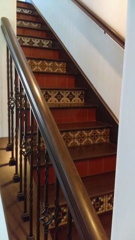 Mexican Tile Designs Stairs Gallery