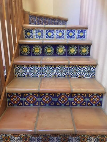 ... Mexican Tile Designs Stair Gallery