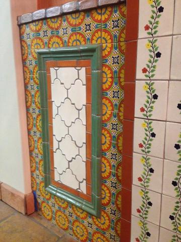 decorative wainscoting mexican tile